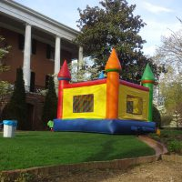Large Multi Colored Castle Bounce House