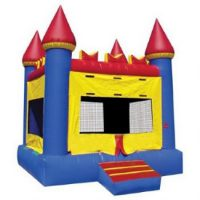 Large Primary Colored Castle Bounce House