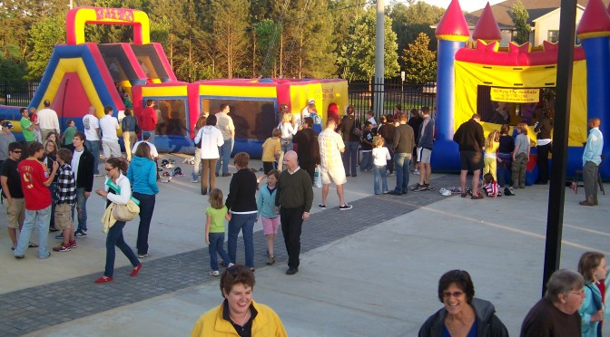 Jumpy Fun at the Kennesaw State University Stadium Opening Day