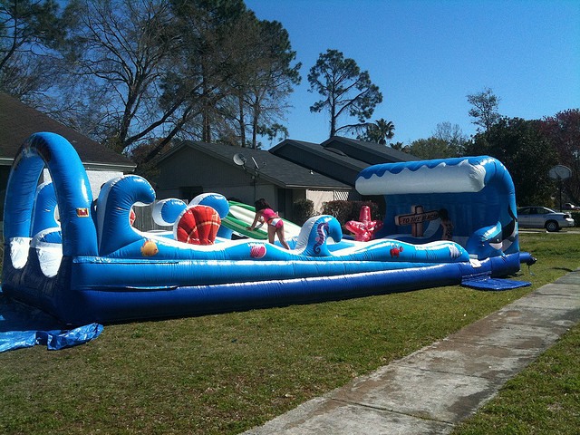 Surf the Wave Inflatable Water Slide